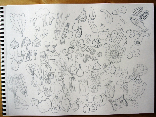 cookbook rough sketches