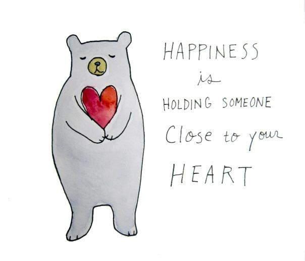 bear heart hug
