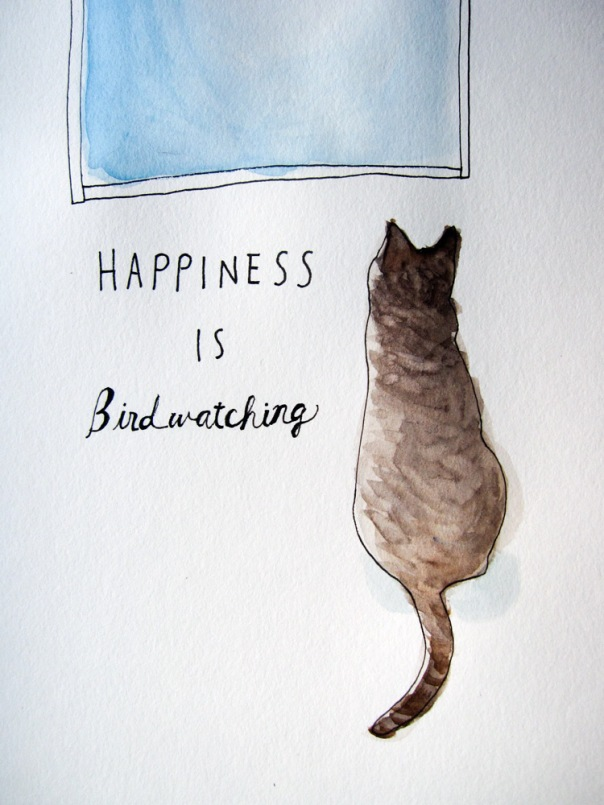 Happiness is birdwatching.
