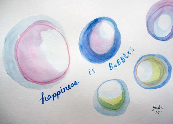 Happiness is bubbles.