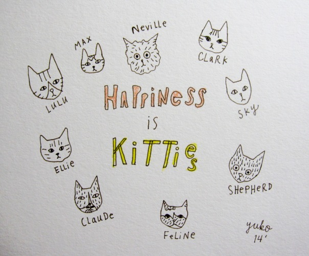 Happiness is kitties.  They're such magical creatures!