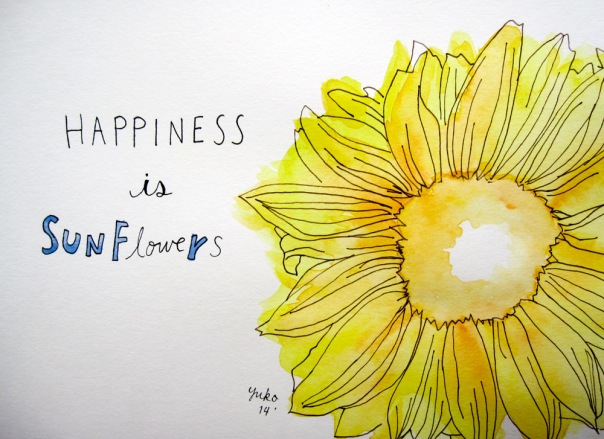 Happiness is sunflowers.