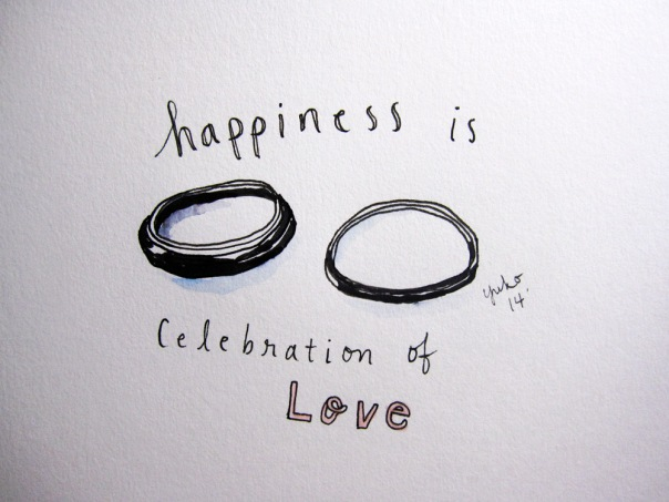 Happiness is celebration of love.  Congrats A & O!