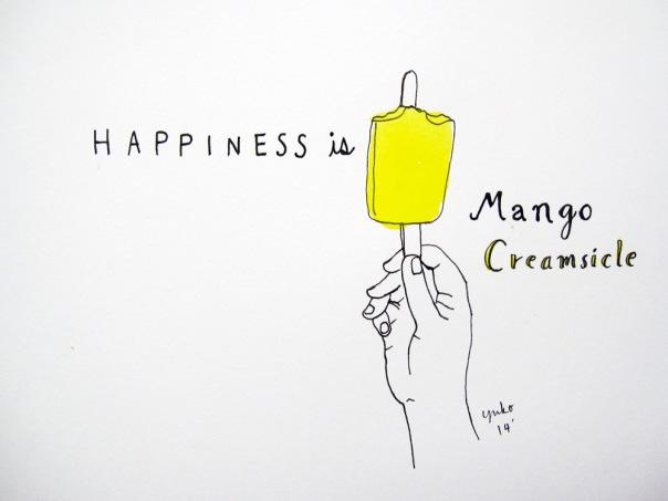Happiness is mango creamsicle.