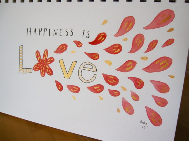 Happiness is love.  and it sparkles! :)