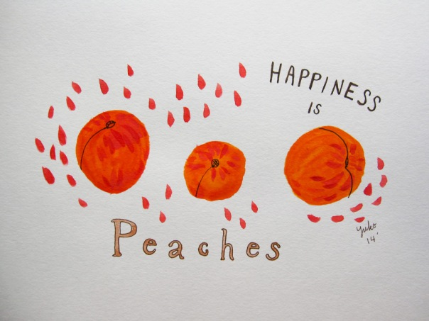 Happiness is peaches.
