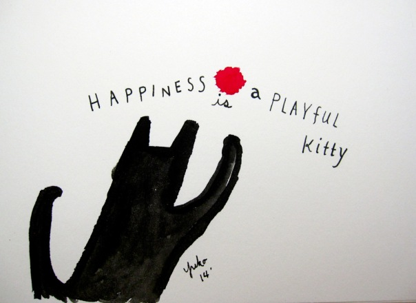 Happiness is a playful kitty.