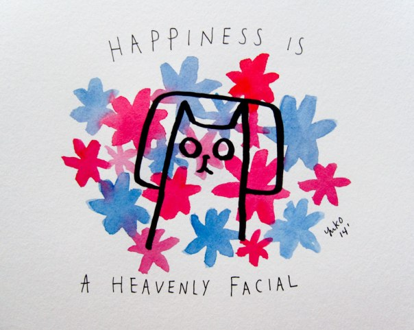 Happiness is a heavenly facial.