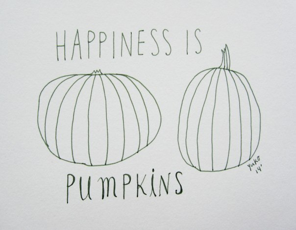Happiness is pumpkins.  His & hers :)