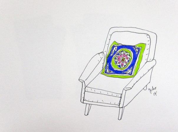 lovely chair & a pillow