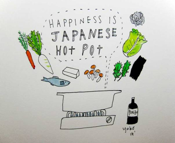 Happiness is Japanese hotpot.