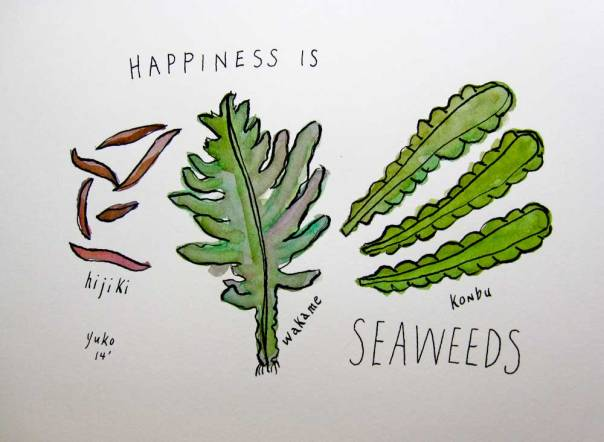 Happiness is seaweeds.  Good stuff.