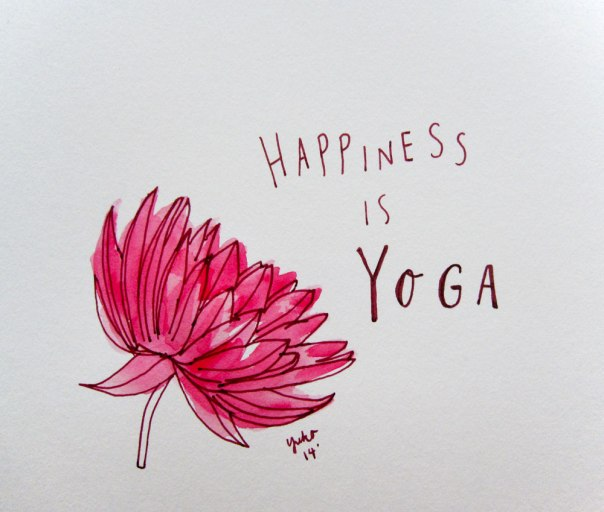 Happiness is yoga.