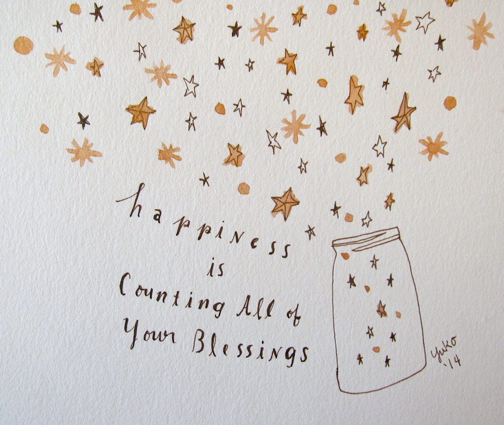 Day 251: Happiness is counting all of your blessings. | Honeyberry Diary