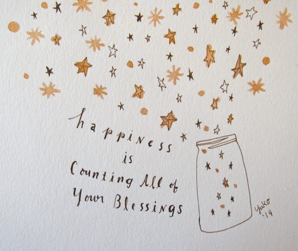 Happiness is counting all of your blessings.  I wish you a New Year filled with love, joy, and happiness!!