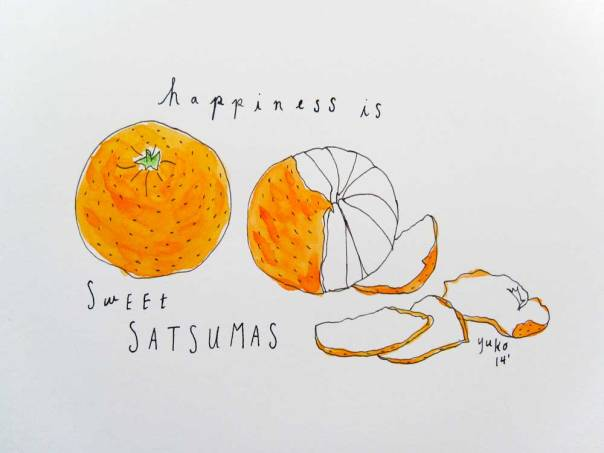 Happiness is sweet satsumas.