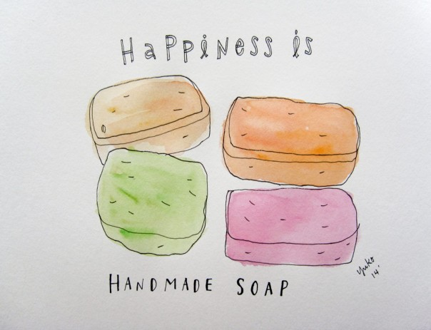 Happiness is handmade soap.
