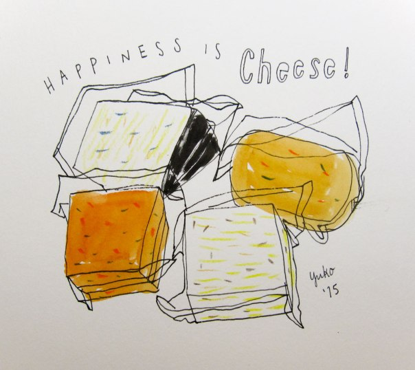 Happiness is cheese!  22 lbs of them to be exact!  Straight from WI :)