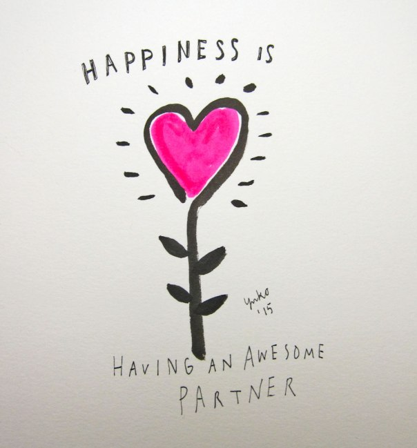 Happiness is having an awesome partner.