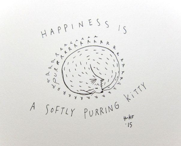 Happiness is a softly purring kitty <3