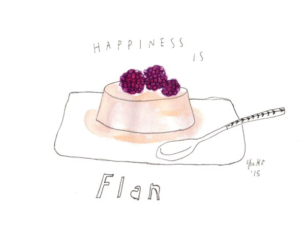 Happiness is flan.