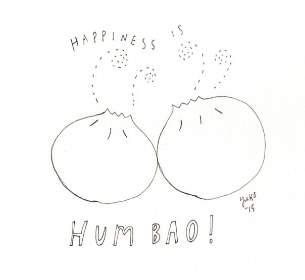 Happiness is hum bao!  We went to a Chinese New Year Food Walk yesterday.  Num.