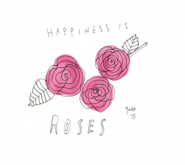 Happiness is roses.  I can't believe it's day 300!  Woo hoo!