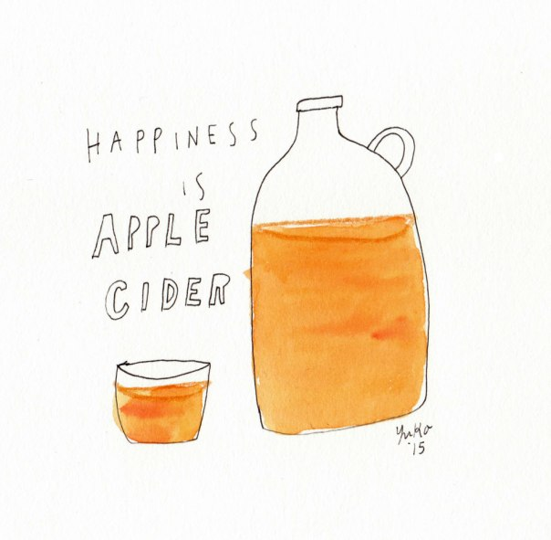 Happiness is apple cider.
