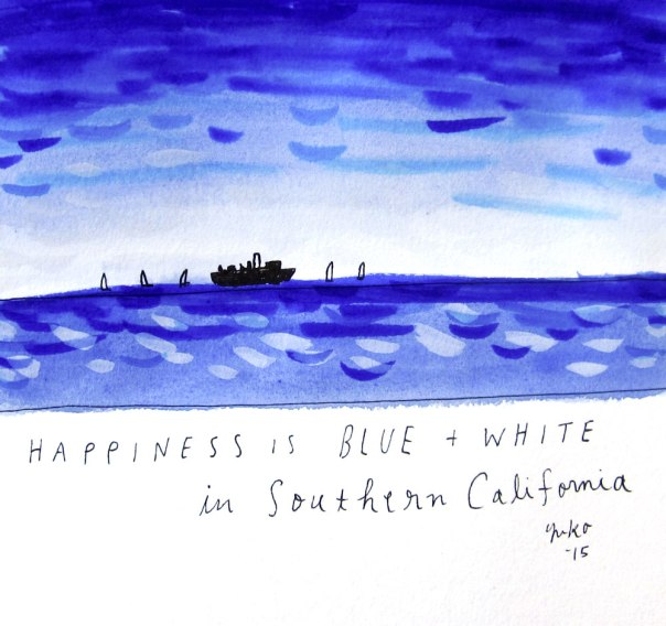 Happiness is blue and white in southern California.  So much beauty here <3