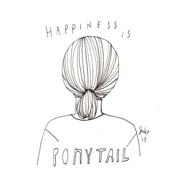Happiness is ponytail. I've been growing my hair out for a while now... Finally a ponytail!