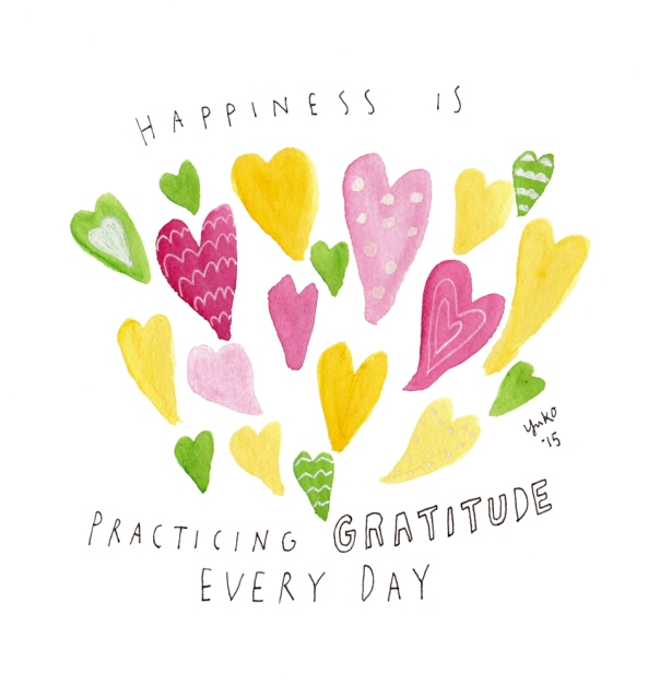 Happiness is practicing gratitude every day.