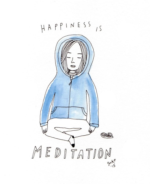 Happiness is meditation.  Many challenging things going on in my life right now (all good things) and needing to feel centered.  Good to have my meditation practice in my life again... :)