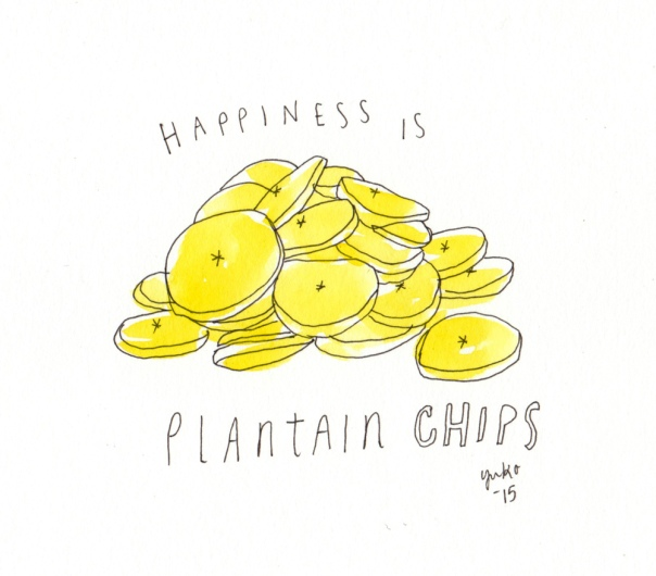 Happiness is plantain chips.  They're seriously addictive!