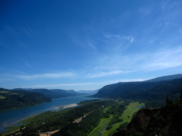 Gorgeous view from the Vista House in Columbia River Gorge, OR