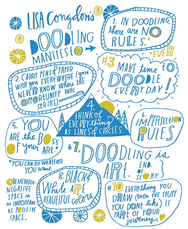 I love Lisa Congdon's doodling manifesto so much <3