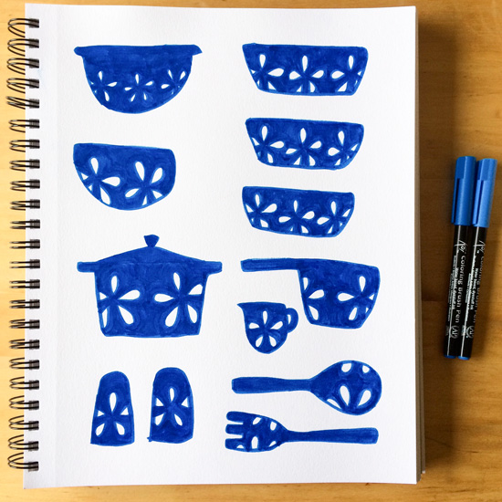 Blue-cookware-sketchbook_lores