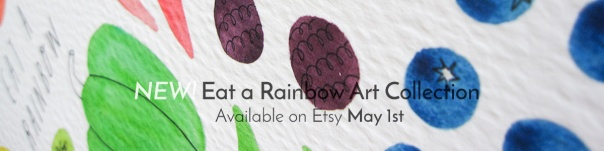 Eat a Rainbow Art Collection Available on May 1st on Etsy!