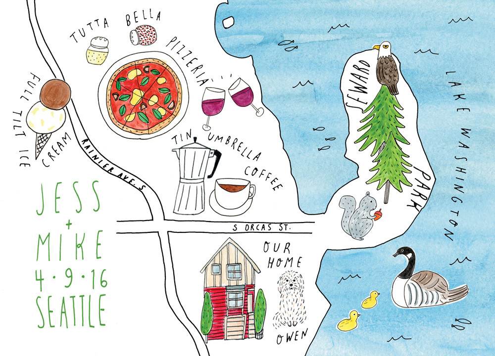 Behind the Scenes Creative Process Commissioned Map Illustration