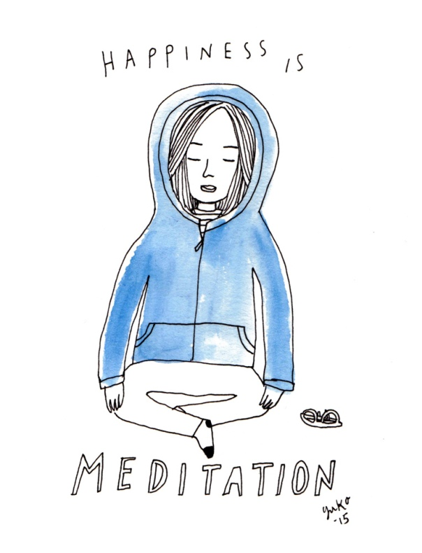 Happiness is Meditation Art Print
