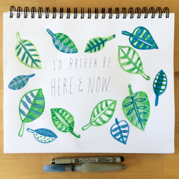 I'd rather be here and now meditation illustration