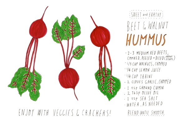 This beet walnut hummus recipe is not only tasty and healthy, it's beautiful!