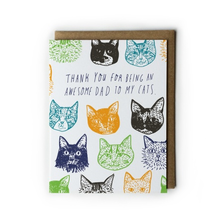 cat lovers father's day card
